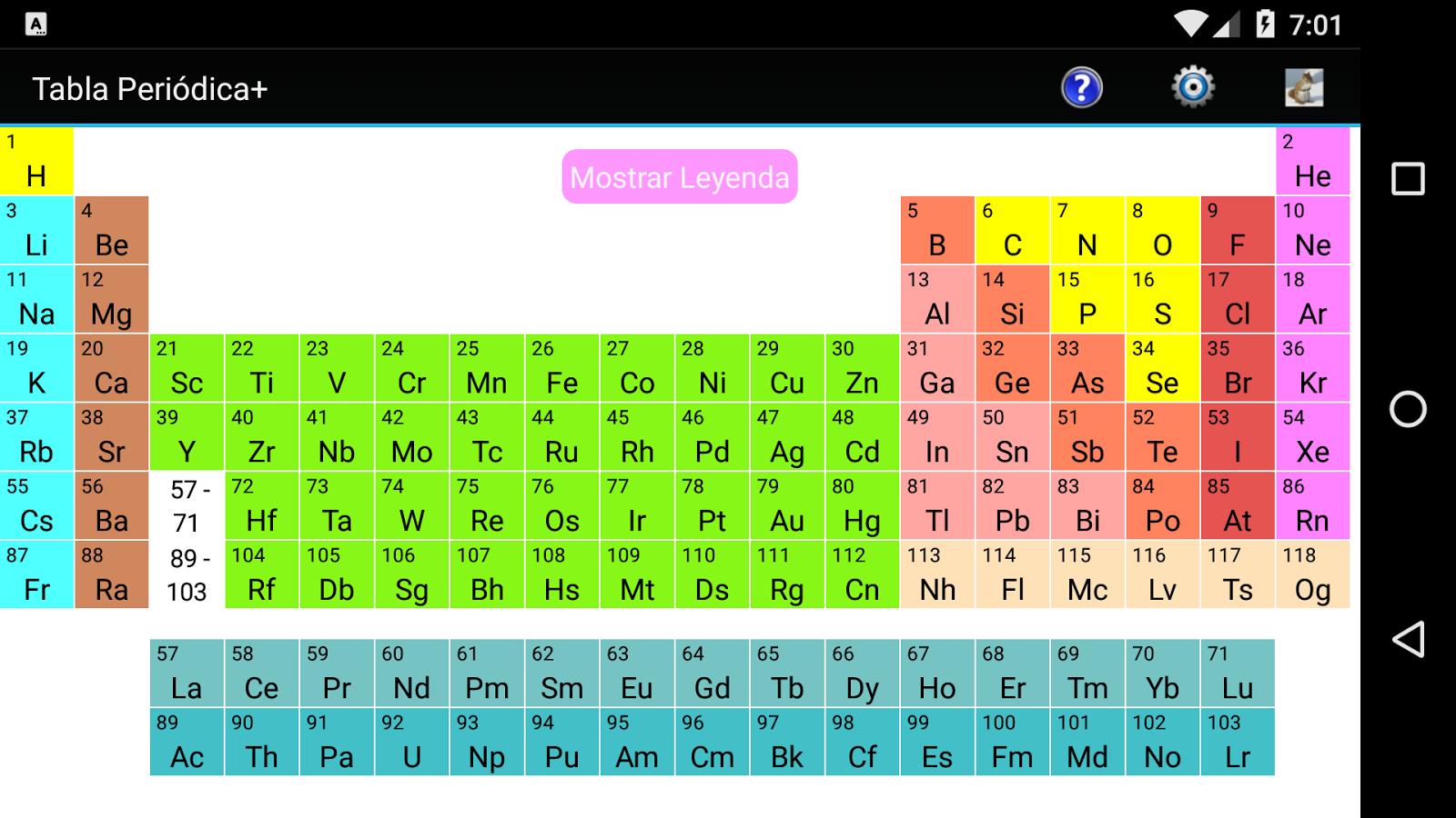Tabla peridica adfree aplicaciones android en google play tabla peridica adfree captura de pantalla urtaz Image collections