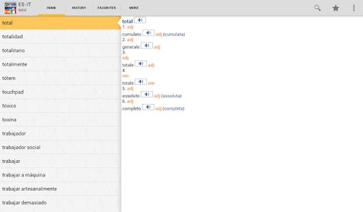 Spanish<>Italian Dictionary T- screenshot thumbnail