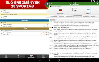 Screenshot of Eredmenyek