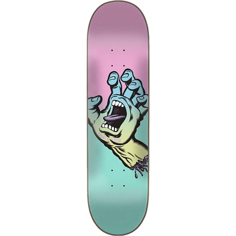 Santa Cruz - Pastel Screaming Hand Skateboard Deck - Teal/Pink 7.75