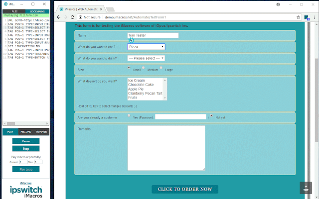 iMacros for Chrome - Интернет-магазин Chrome