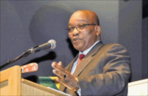 09/09/2008. VRU. ANC president Jacob Zuma delivering a speech at the University of Johannesburg in Braamfontein. Pic. Vathiswa Ruselo. 09/09/08. © Sowetan.