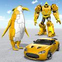 Penguin Robot Car Game: Robot Transforming Games icon