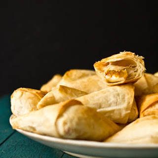 Spicy Goat Cheese & Butternut Squash Triangles