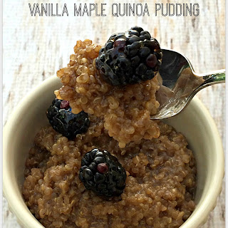 Vanilla Maple Quinoa Pudding.