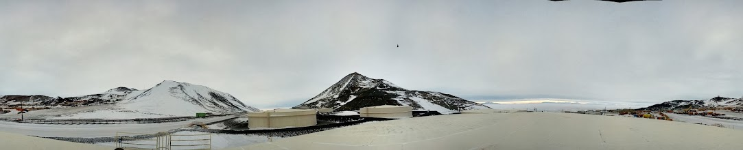 Photo: Fuel tanks in the pass. McMurdo Station
