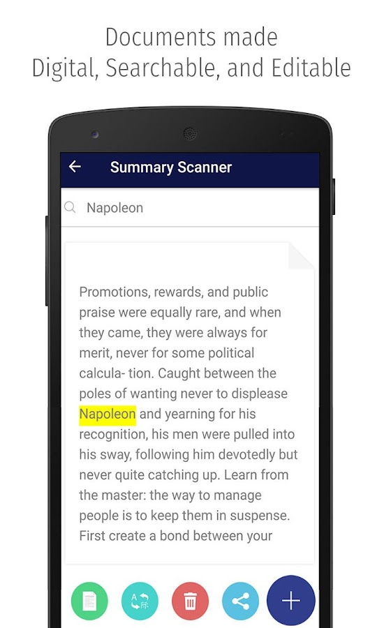 Summary Scanner- screenshot