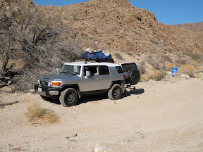 FJ Cruiser in Anza Borrego