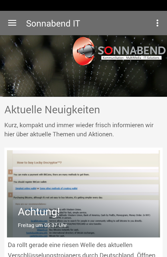 Sonnabend IT- screenshot