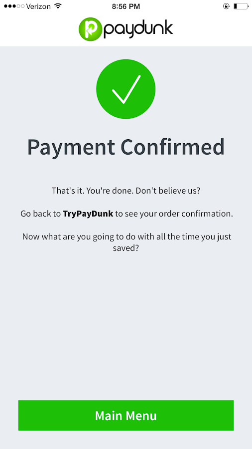 Paydunk Payment App- screenshot