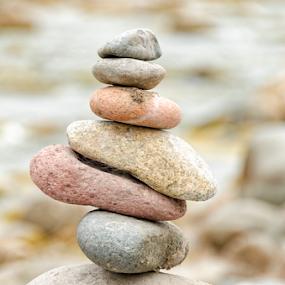 Zen by Fico Stein Montagne - Nature Up Close Rock & Stone ( rocks, nature, pile, still life, stones )