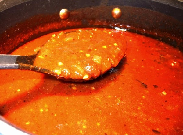 Simmer stock for about 30-45 minutes, adding more beef stock as needed to keep...