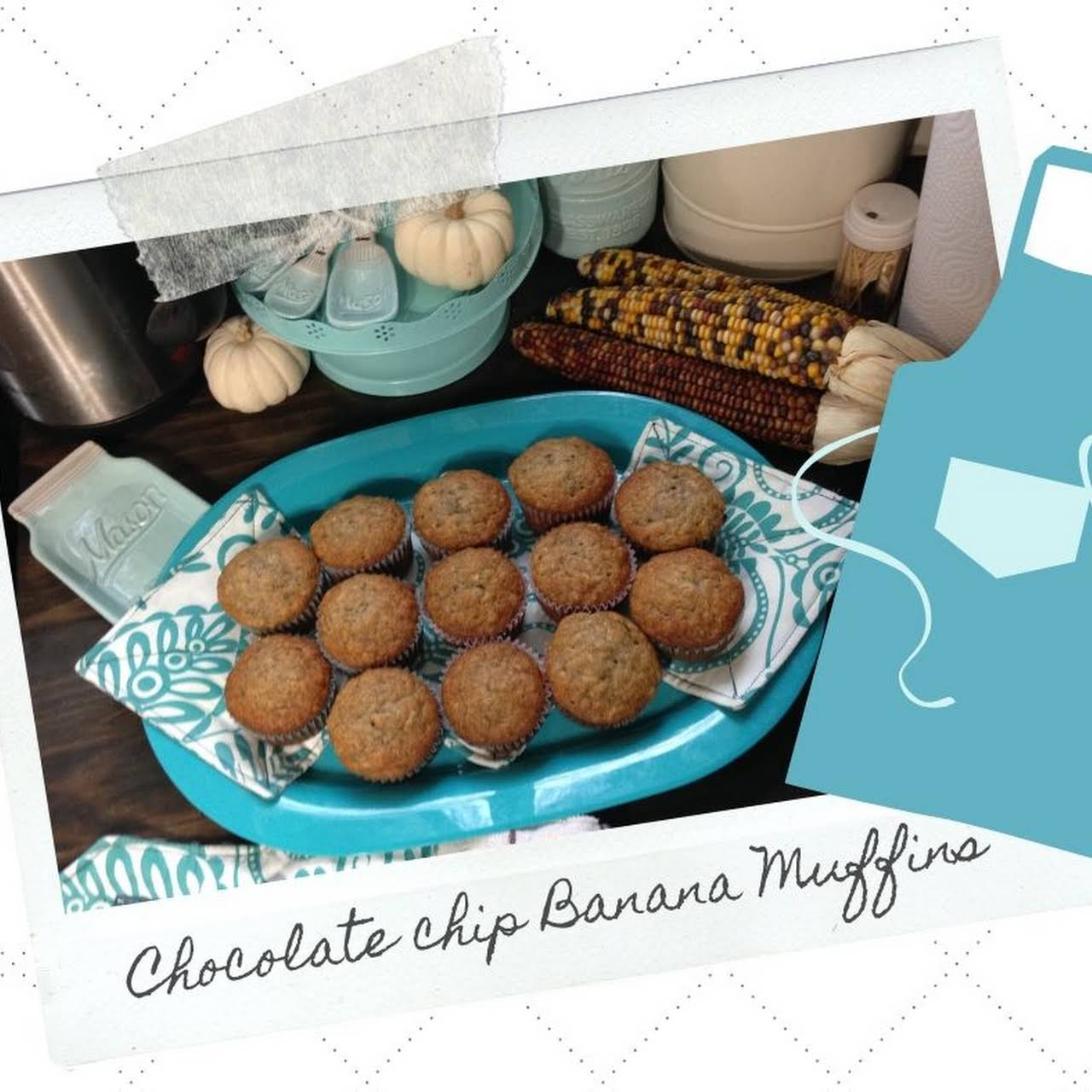 Chocolate Chip Banana Muffins- All-Time Greatest Recipe!
