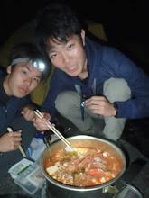 Photo: 闇鍋に喜ぶ、先輩達