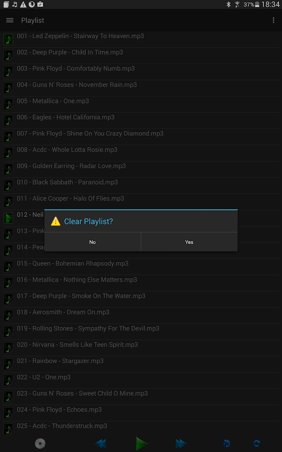 Samba Network Music Player- screenshot