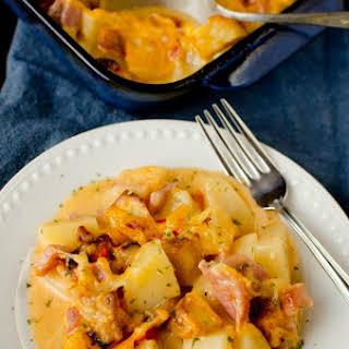 Cheesy Ham and Potato Casserole.