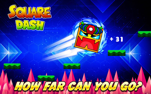Square Dash: Jump Games, Geometry Word Free 1.0 screenshots 4