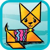 Kids Tangram Puzzles: Cats