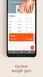 screenshot of Week by Week Pregnancy App. Contraction timer