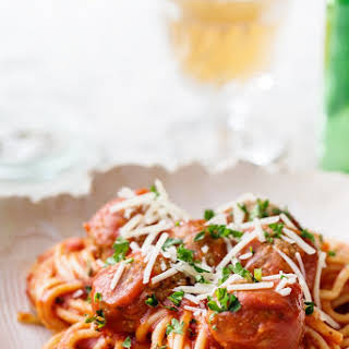 Slow Cooker Spaghetti and Meatbals.