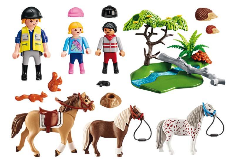 Contenido de Playmobil® 6947 Paseo de Ponis en el Campo