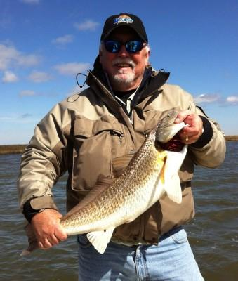 Frank with redfish