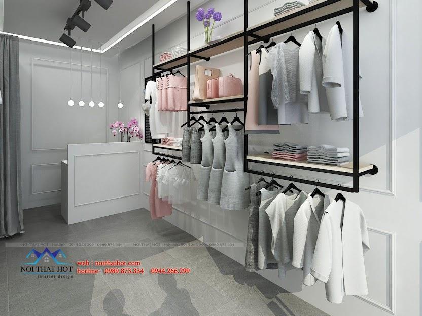 thiết kế shop thời trang L&M 4