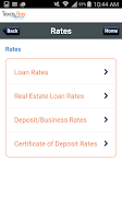 Screenshot of TBCU Mobile Banking