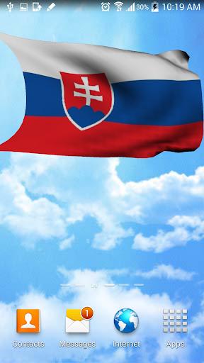 3D Slovakia Flag Wallpaper