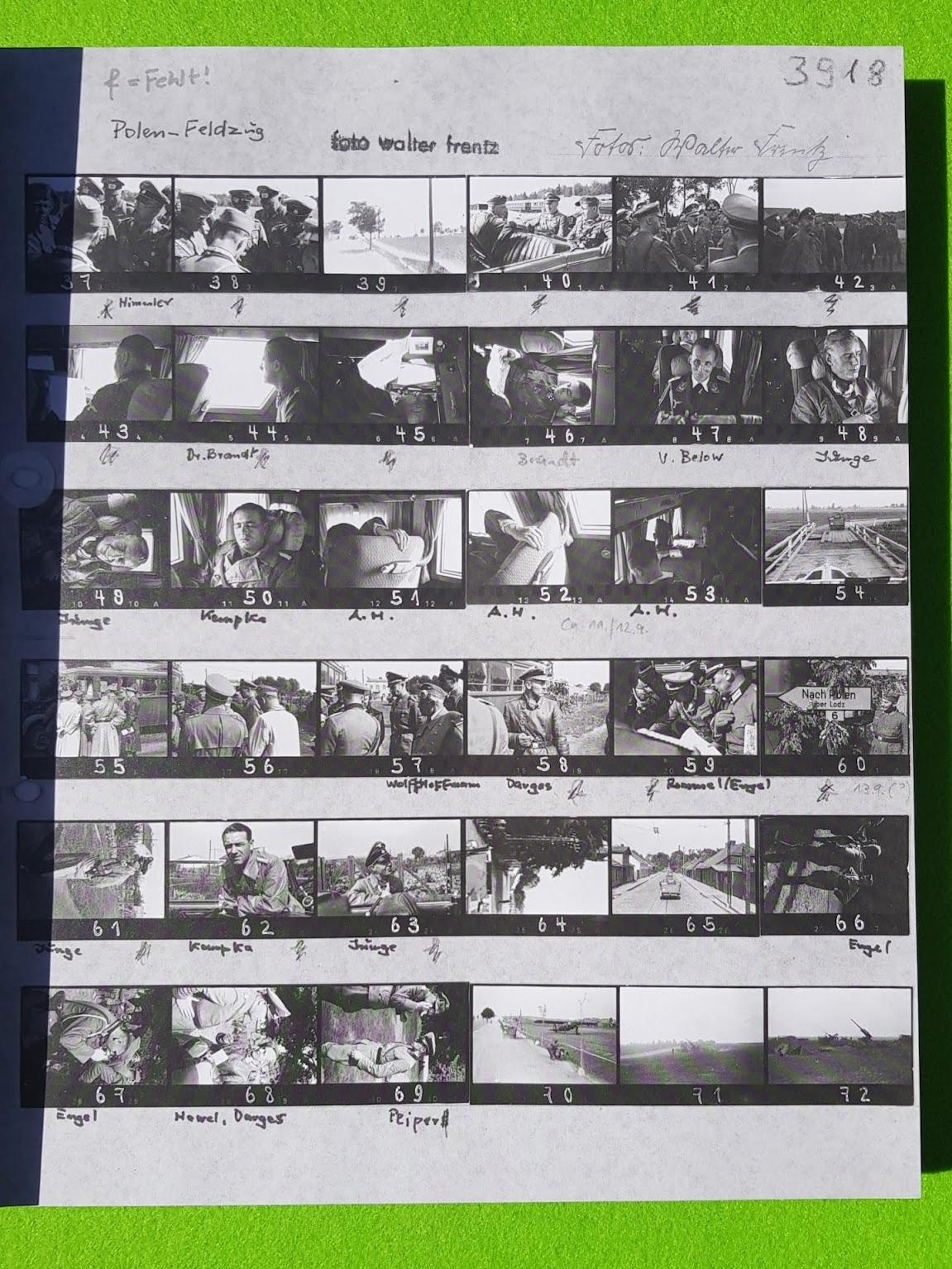 Fotostreifen - aus: Das Auge des Dritten Reiches - Walter Frentz Bildband