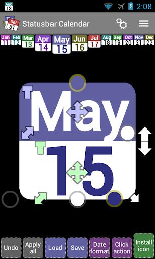 玩工具App|Status bar Calendar Demo免費|APP試玩