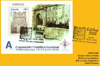 Photo: Tarjeta del matasellos de la Exposición filatélica Nacional 2000