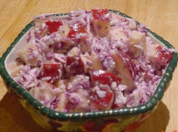 APPLE SLAW WITH BLUE CHEESE