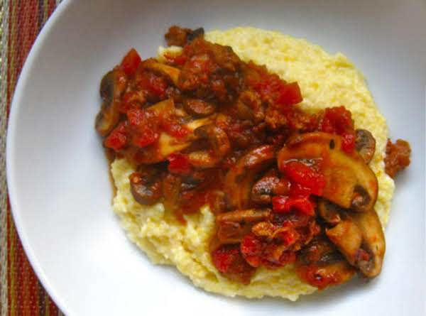 Sweet Sausage And Mushroom Ragout With Polenta