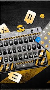 Download Metal Warning Line Keyboard Theme For PC Windows and Mac apk screenshot 3