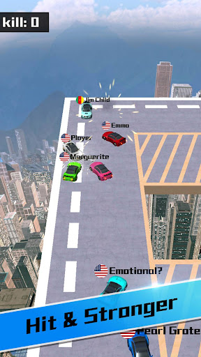 Car bumper.io - Roof Battle - screenshot