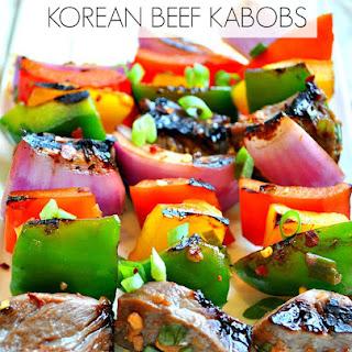 Korean Beef Kabobs.