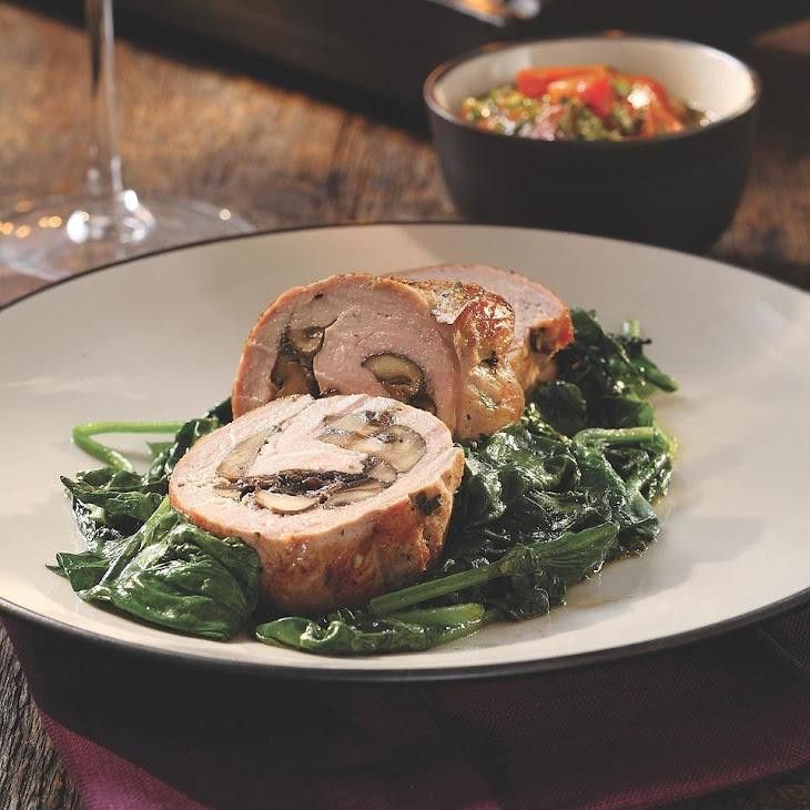 Mushroom-Stuffed Pork Tenderloin Recipe