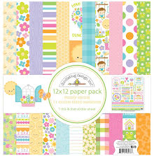 Doodlebug Double-Sided Paper Pack 12X12 12/Pkg - Simply Spring