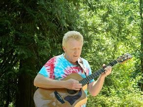 Photo: Frank serenading us all