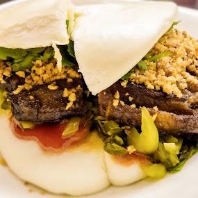 Pork Bun by Dennis Mai - Food & Drink Plated Food ( bun, pork, chinese, taiwanese )