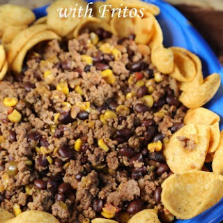 Crock Pot Mexican Chili over Fritos.