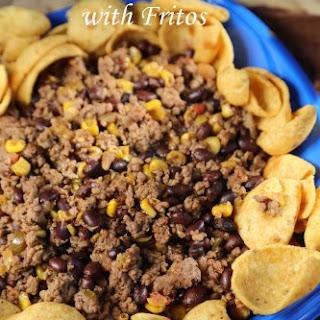 Crock Pot Mexican Chili over Fritos.