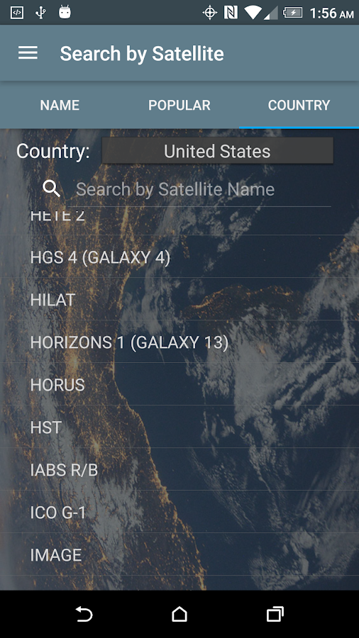 Satellite Tracker- screenshot