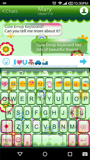 Happy Day Emoji Keyboard Theme