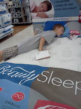 Photo: Did you know that Walmart sells mattresses???  Apparently they do...annnnd we tried them out...oh! they were comfortable. :)