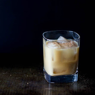 Vegan Bourbon Milk Punch.