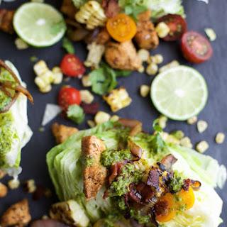 Southwest Cobb Wedge Salad with Poblano Dressing.