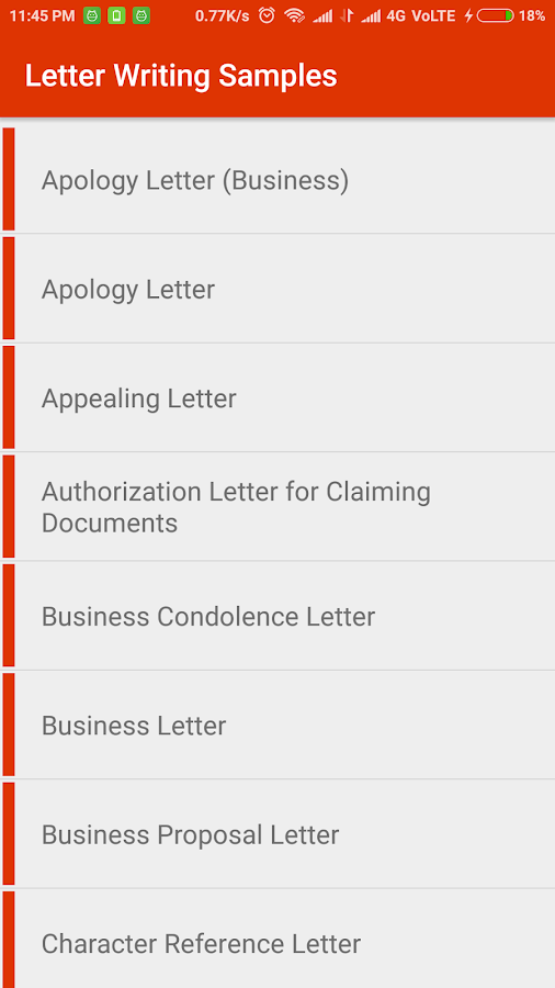 Letter Writing Samples Android Apps on Google Play
