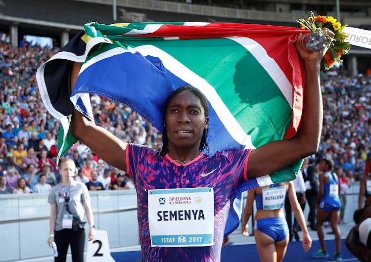 World 800m champion Caster Semenya.
